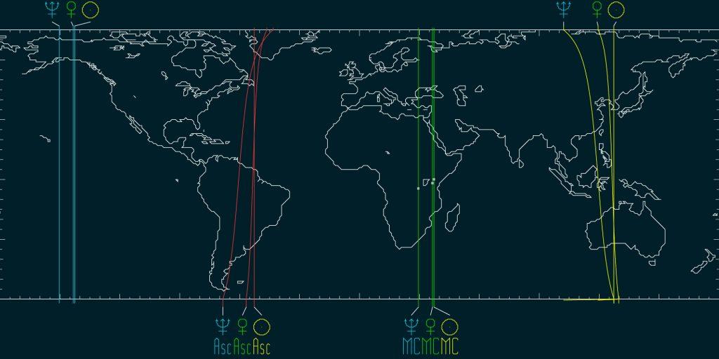 AstroCartography — Spring Equinox 2021 Sun, Venus and Neptune