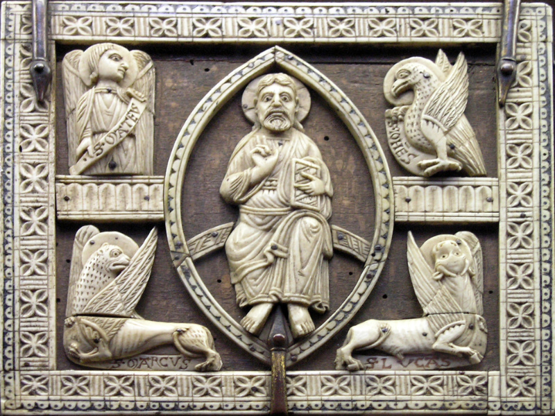 Tetramorfo, intaglio su Avorio del tredicesimo secolo